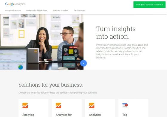 Screenshot of the new Analytics homepage.