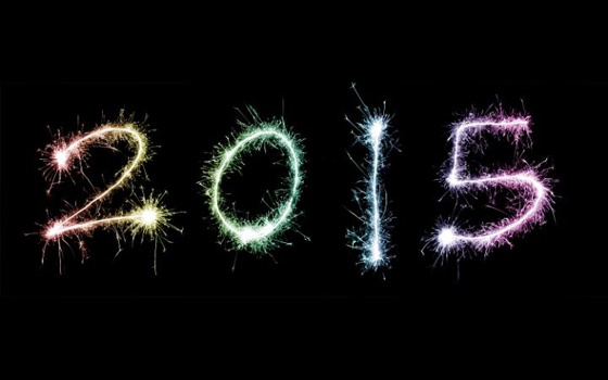 2015 written in fireworks.
