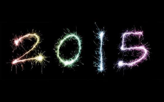 2015 written in fireworks.