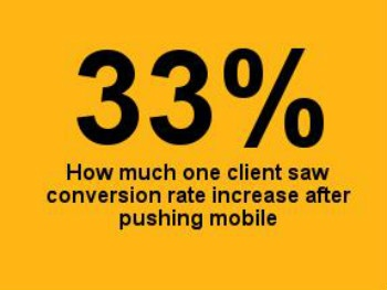 33% conversion rate increase
