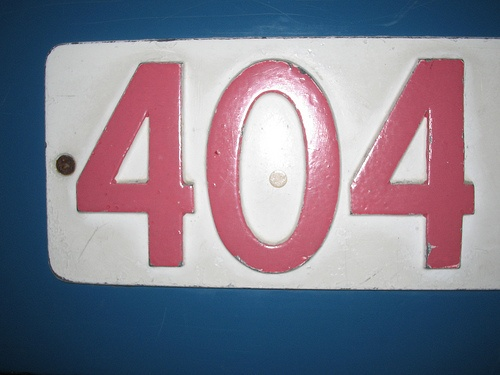 404 licence plate