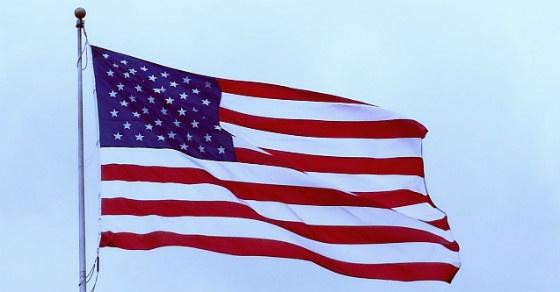 American flag 560 w