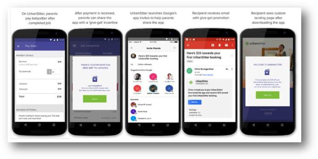 App Invites on various smartphones