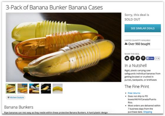 Groupon's Banana Bunkers advert