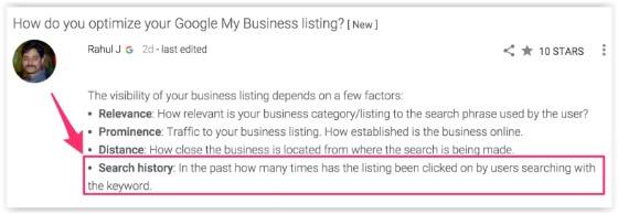 Google forum post 2