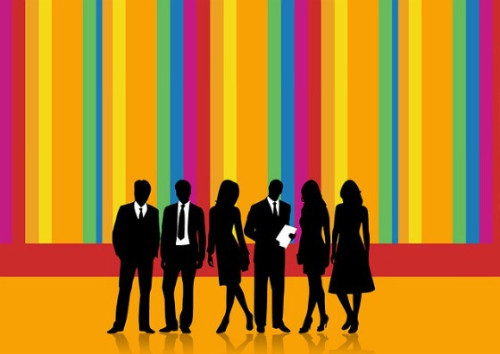 A group of personas in silhouette.