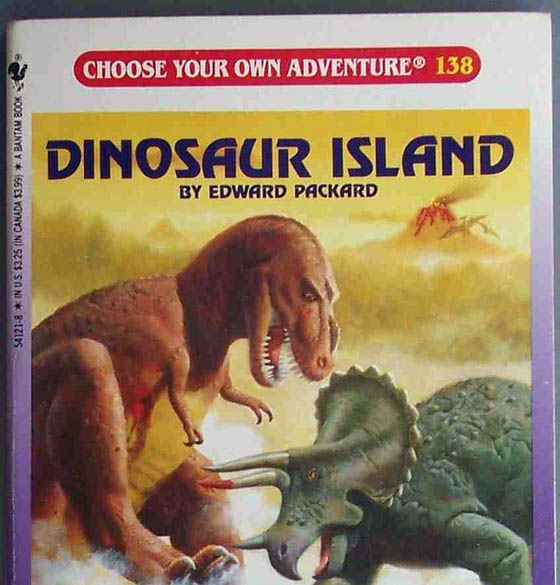 Choose Your Own Adventure book: Dinosaur Island.