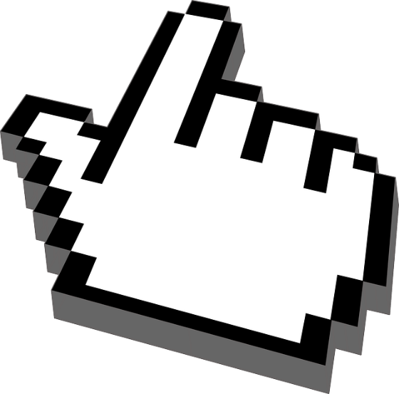 Hand-shaped 'click' pointer.