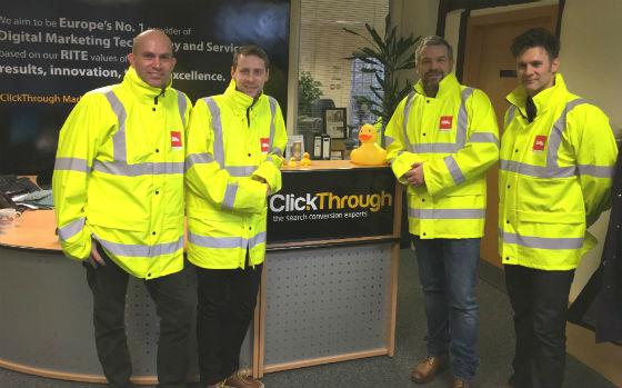 ClickThrough team in Biffa jackets