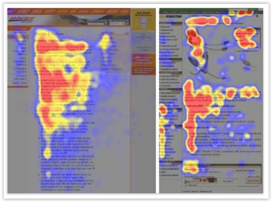 Content heat mapping