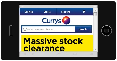 Currys iPhone 5 RWD