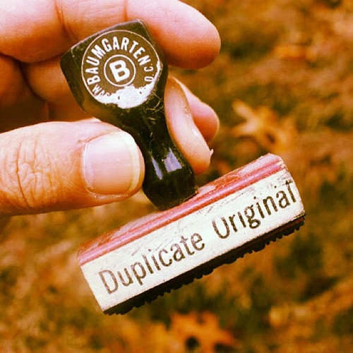 'Duplicate Original' stamp
