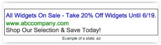 Example of a static ad