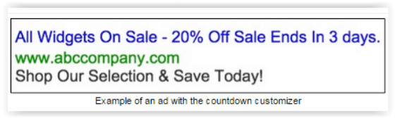 Example of dynamic ad
