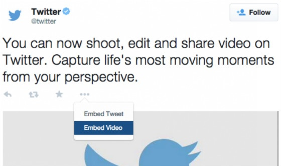 How to embed videos on Twitter.