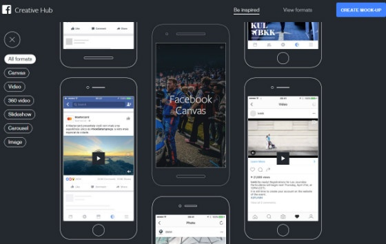 Facebook Creative Hub Inspiration Gallery