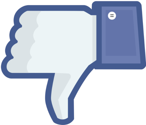 Facebook dislike icon.