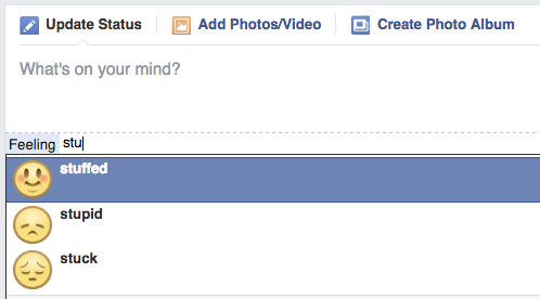 Facebook's new emoji, now labelled 'feeling stuffed'.