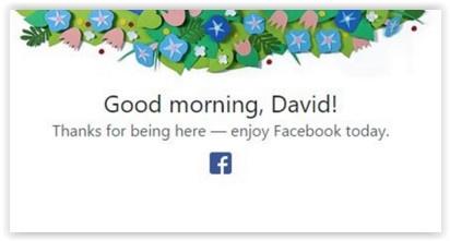 Facebook good morning