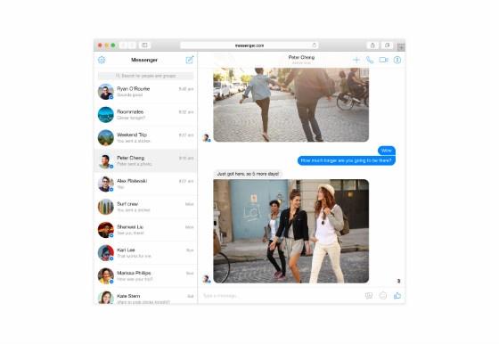 Facebook's desktop Messenger.