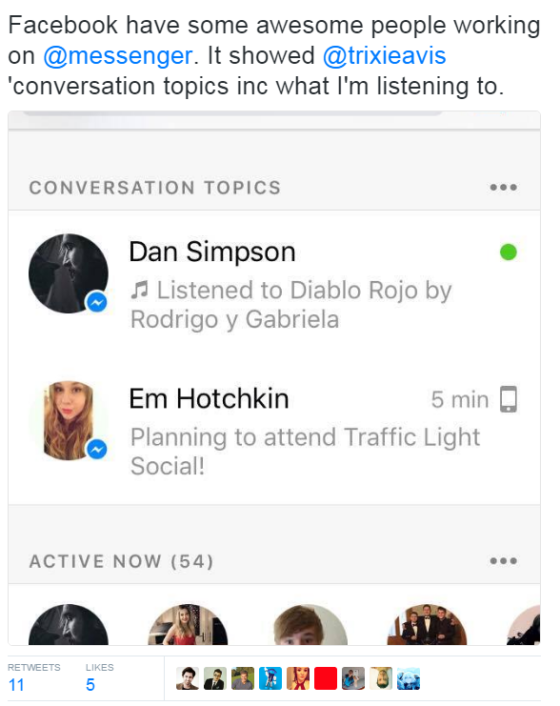 Facebook Messenger Topics 2