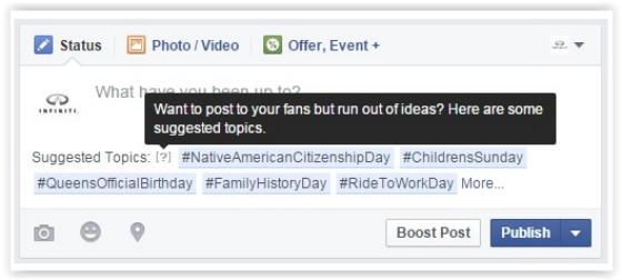 Facebook prompt screenshot