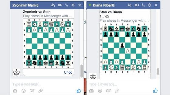 Facebook Chess Messenger