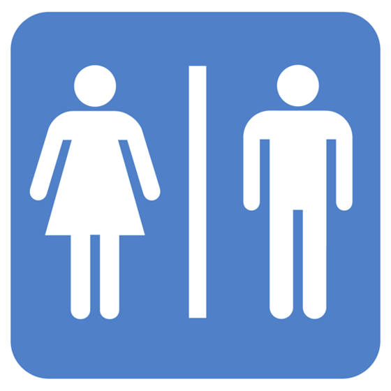 Bathroom gender sign.