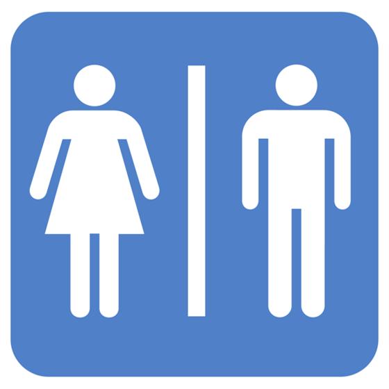 Bathroom gender sign.