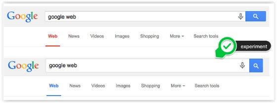 Google Blue and Red navigation links