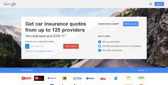 Google Compare car insurance site.