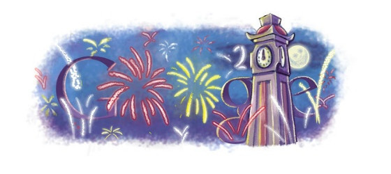 Google's New Year Doodle 2010