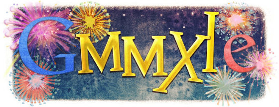 Google's New Year Doodle 2011