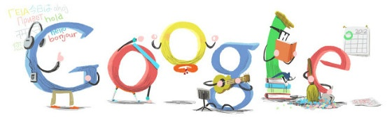 Google's New Year Doodle 2012