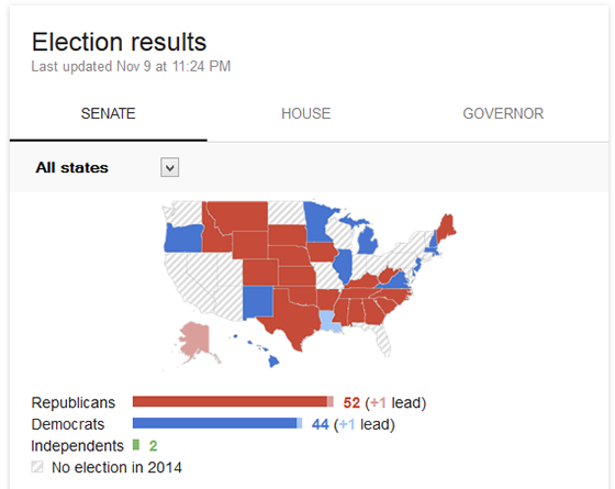 Google midterm elections map.
