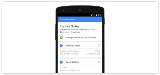 Google Hotel Ads on iPhone