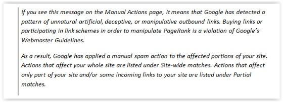 Google Link Message