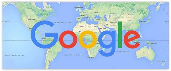 Google world map
