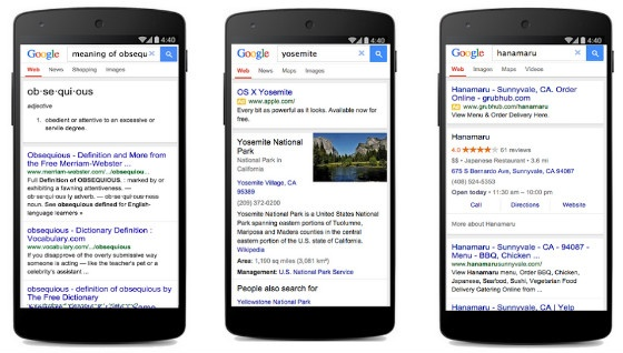 Google's new 'lite' version of mobile search.