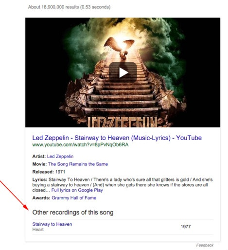 Google song search