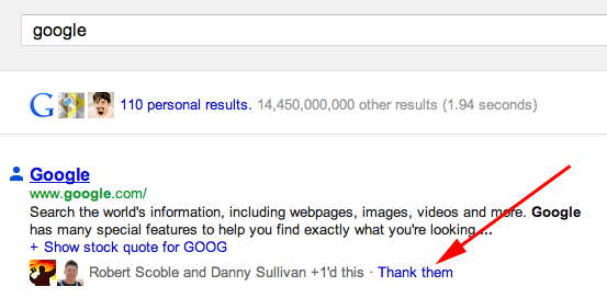 How Google+ integration used to look.