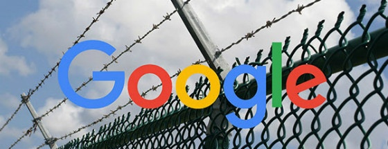 Google logo with barbed wire