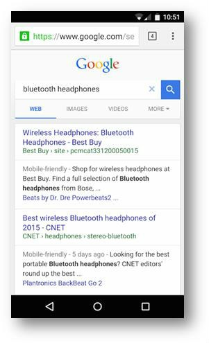 New Google mobile interface