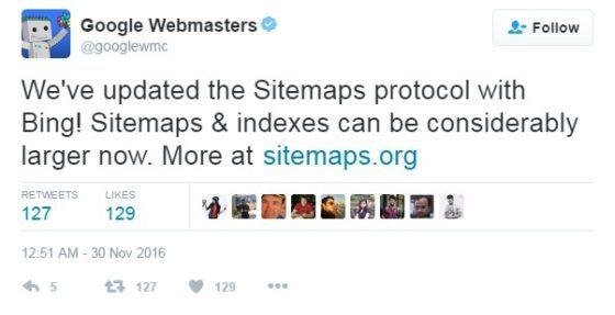 Google update sitemap
