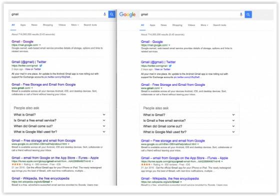 New Google links