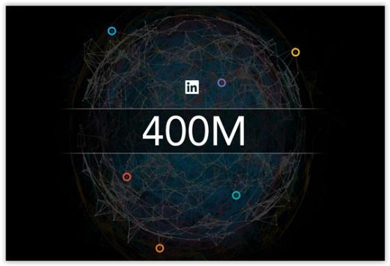 LinkedIn 400 Million graphic