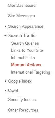 Where to find manual actions