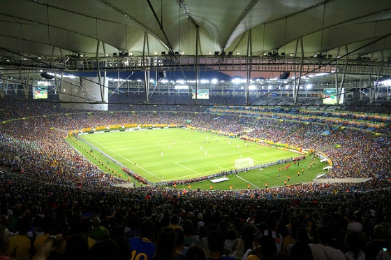 The inside of Maracanã Stadium.