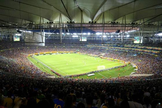 The inside of Maracanã Stadium.