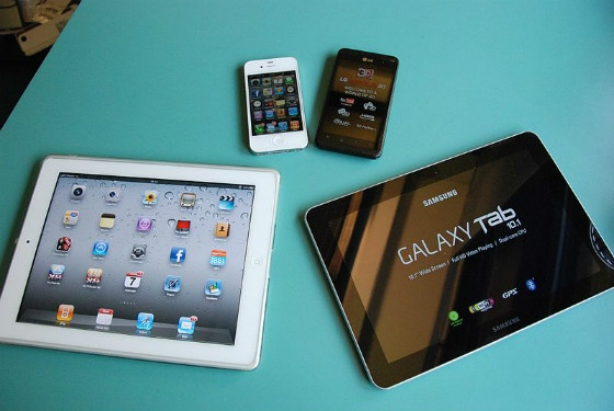 A selection of mobile devices.